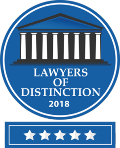 Lawyers of Distinction Badge 2018